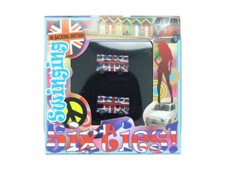 Union Jack Bus Cufflinks - Cufflinks - - ThreadPepper