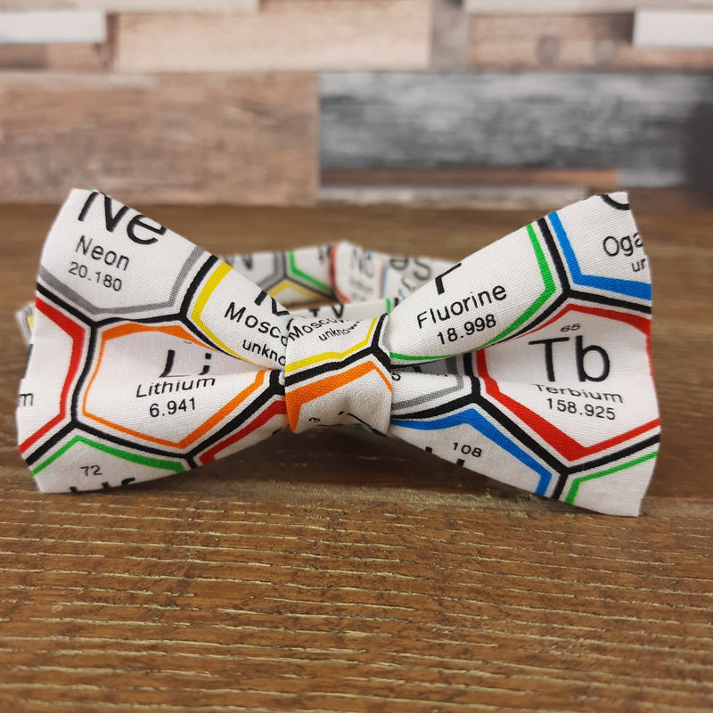 White Periodic Table Science Bow Tie - Bow Ties - - ThreadPepper