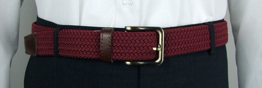 Wine Woven Belt - - - ThreadPepper