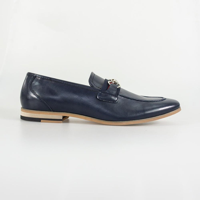 Yale Navy Loafers - Shoes - - ThreadPepper