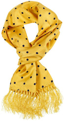 Yellow Dot Silk Scarf - Scarves - - ThreadPepper