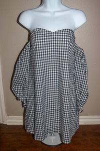 Checkered Hearts Mini Dress
