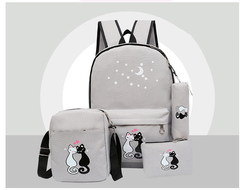 School Bags Set 4pcs/set