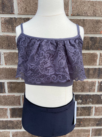 Grey Lace Cami-Adult OS