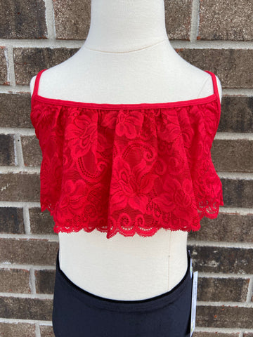 Red Lace Cami- Adult OS