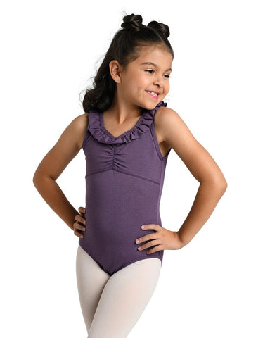 Miss Ruffles Leotard - Girls BLACK