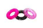 SUGAR TWISTS coil hair ties pink candy
