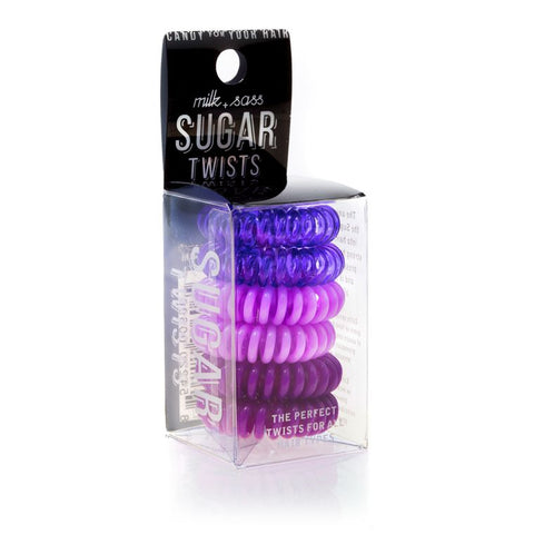 SUGAR TWISTS coil hair ties violette
