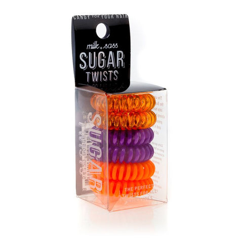 SUGAR TWISTS coil hair ties orange blossom