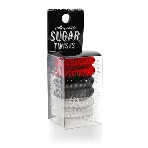 SUGAR TWISTS coil hair ties red licorice
