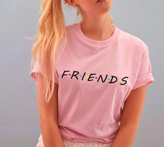 Friends TV Show T-Shirts Womens Summer Casual Short Sleeve Tops Graphic Tees