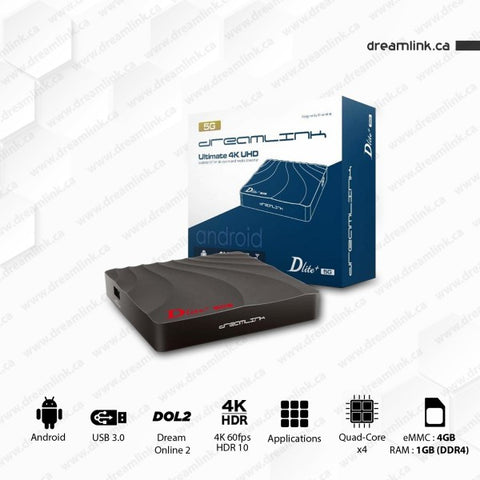 Dreamlink Dlite + 5G IPTV Set Top Box