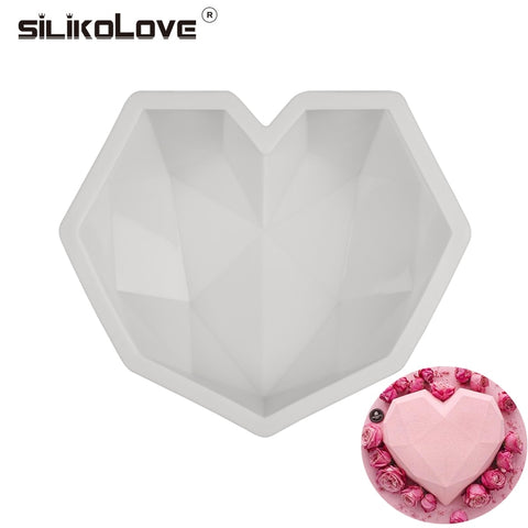 3D Diamond Heart Silicone Mould