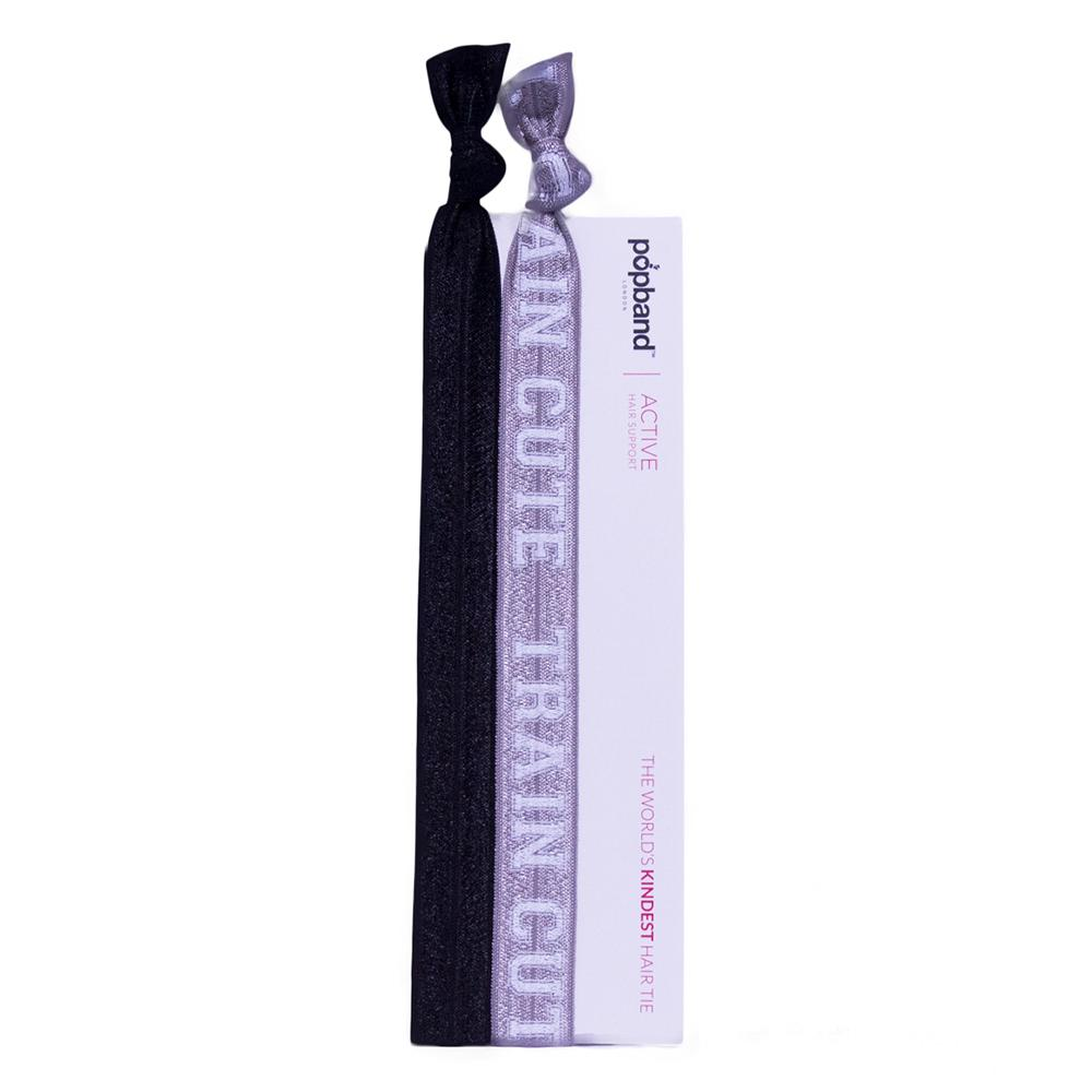 Train Cute | Popband Active Headbands | Black & Grey Sport Headbands