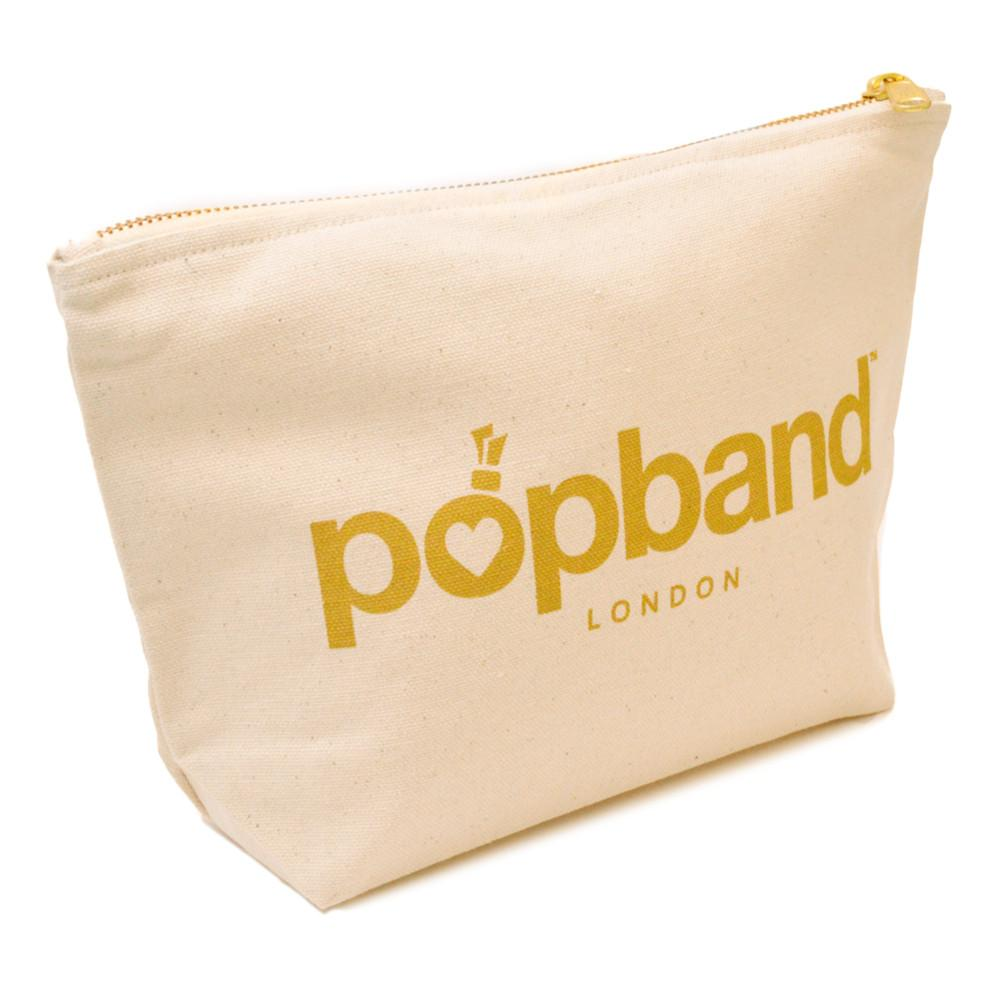 Popband Beauty Bag with Gold Popband Logo