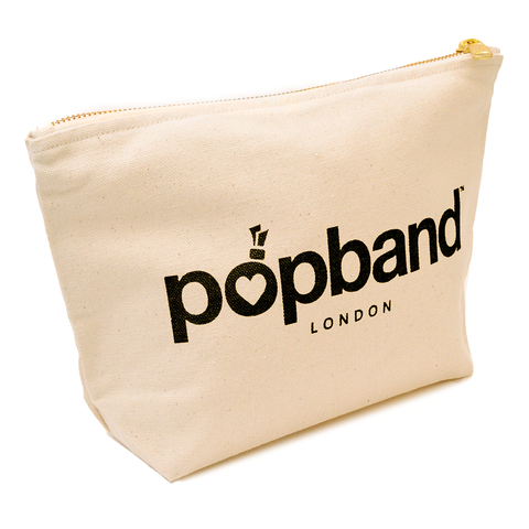 Popband Beauty Bag with Black Popband Logo