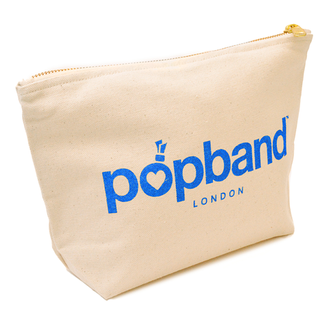 Popband Beauty Bag with Blue Popband Logo