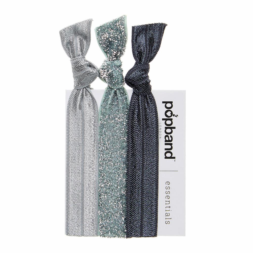 Glitterball Silver | Popband Essentials Hair Bands | Silver & Silver Glitter Hair Ties