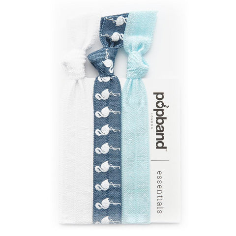 Blue Flamingo  | Popband Essentials Hair Bands | Blue Hair Bands with White Flamingo Print