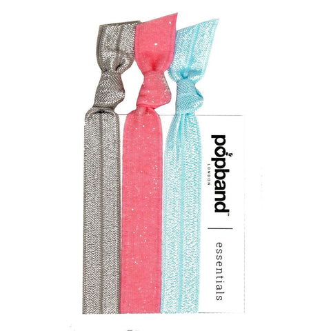 Pastel | Popband Essentials Hair Bands | Plain Grey, Pink, & Blue Hair Ties