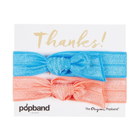 Thanks Popband Gift Pack | Blue & Pink Hair Bands
