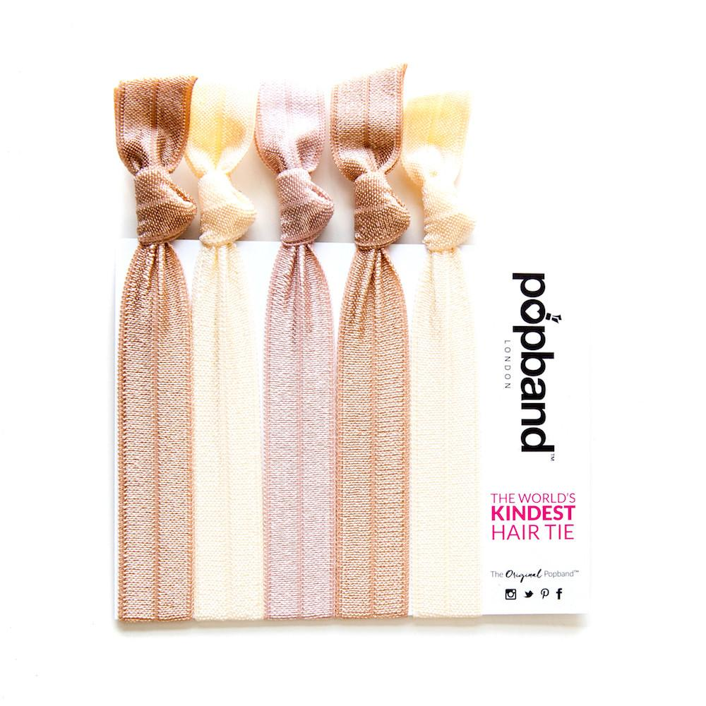Blondie | Solid Colour Popband Hair Bands | Beige, Light Taupe & Cream Hair Ties