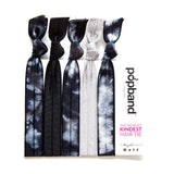 Tye Dye | Printed Popband Hair Bands | Black, White & Grey Hair Ties with Monochrome Print