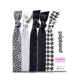 Working Girl | Printed Popband Hair Bands | Black & White Geometric Print Hair Ties