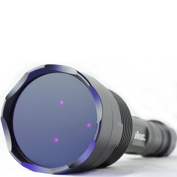 NEW uvBeast Black Light UV Flashlight V3 365nm – FILTERED Ultraviolet - HIGH POWER and LONG RANGE Professional Grade 365nm Beam