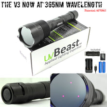 Load image into Gallery viewer, uvBeast Black Light UV Flashlight V3 365nm – FILTERED Ultraviolet - HIGH POWER and LONG RANGE Professional Grade 365nm Beam