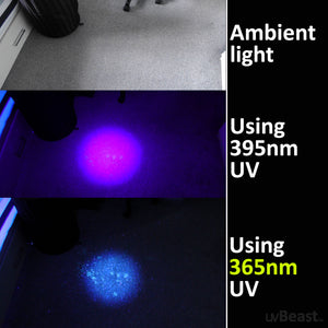 uvBeast Black Light UV Flashlight V3 365nm MINI - FILTERED Ultraviolet - USB-C Quick charge Port - Professional Grade