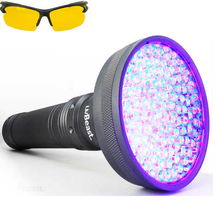 uvBeast Black Light UV Flashlight V2 (VERSION 2) Flood Effect