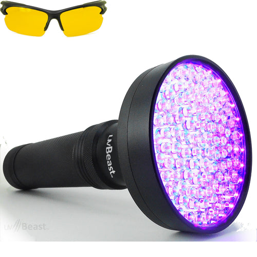 uvBeast Black Light UV Flashlight 100 LED V1 Flood Effect