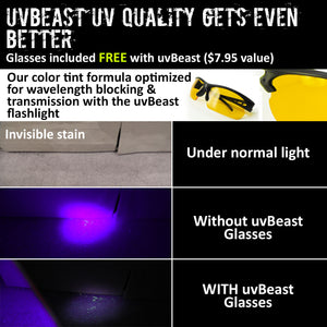 uvBeast UV Flashlight 100 LED V1