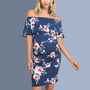 026d7bedb46 Maternity Floral Print Bodycon Dress