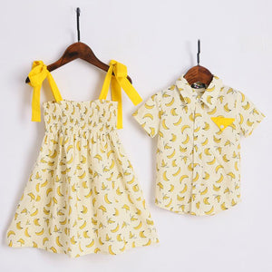 1d29dcea8 Brother Sister Banana Prints Matching Outfits