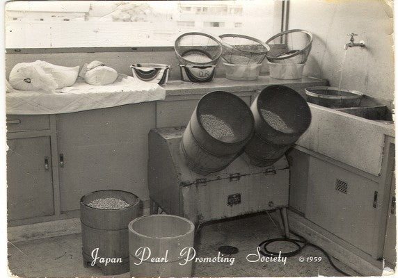 Pearl processing equipment for washing and bleaching has not seen much publicity since then.