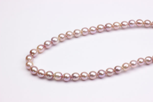 Rosy pink Chinese freshwater pearl strand