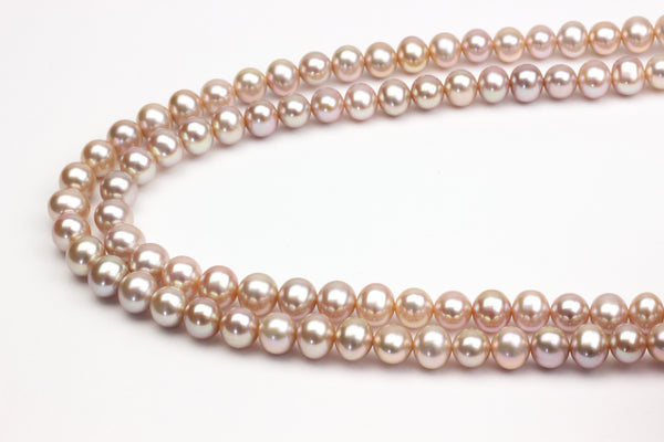 Apricot Chinese freshwater pearl strand