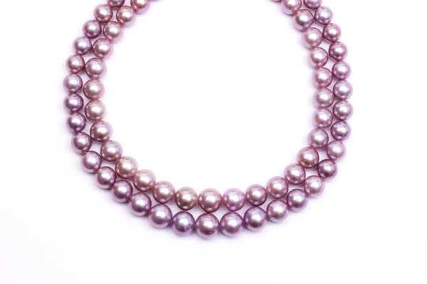 Wonderful Chinese freshwater round pearls strand