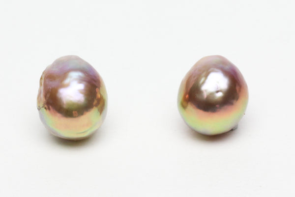 metallic luster champagne drop japan kasumi pearl pair