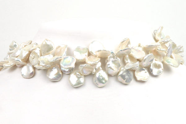 white petal pearl strands