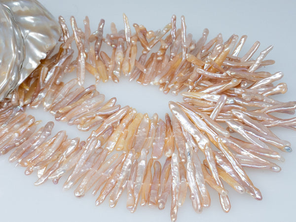 Chinese freshwater very long stick 30mm pearl strand