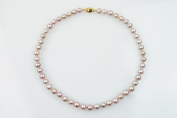 chinese freshwater pink pearl necklace