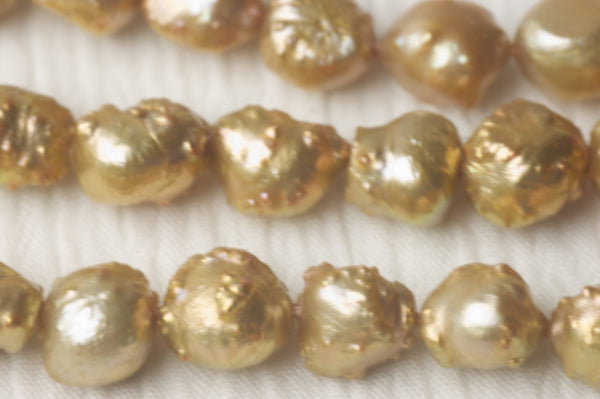 dyed gold rosebud pearls