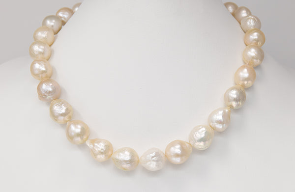 The Lightest Blush Chinese freshwater pearl strand