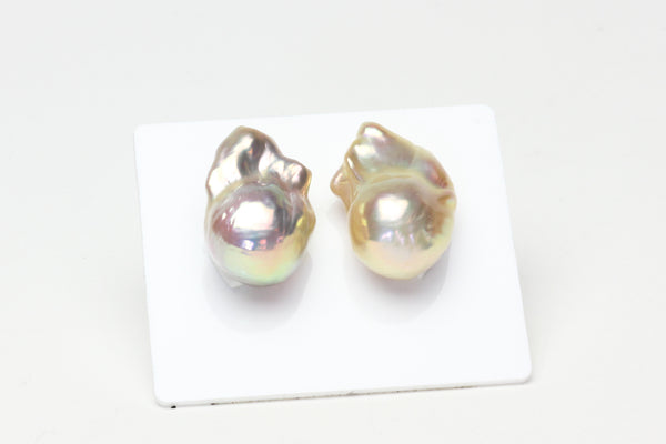 champagne color metallic flameball pearl pair