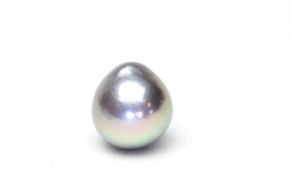 gorgeous silver plump drop pearl