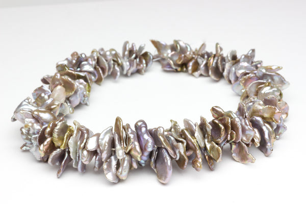 Giant freeform Chinese freshwater pearl strand