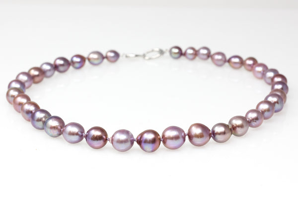Baroque purple Chinese fresh water pearl necklace